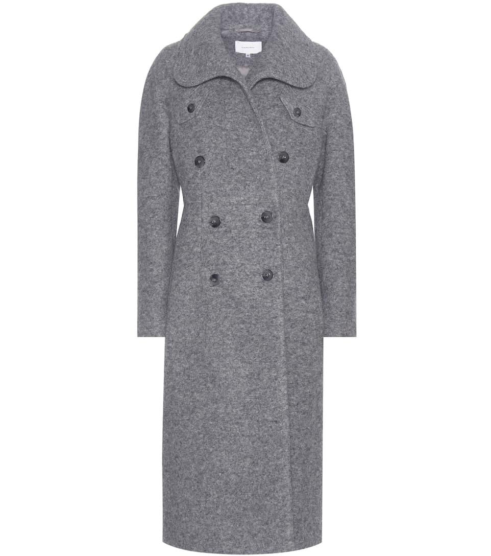 Carven Melange wool-blend coat