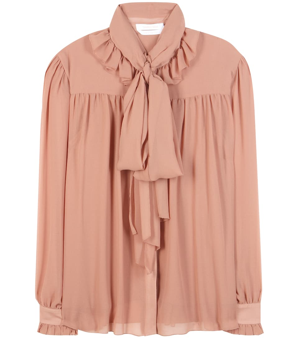 See By Chloé Ruffled chiffon crêpe blouse