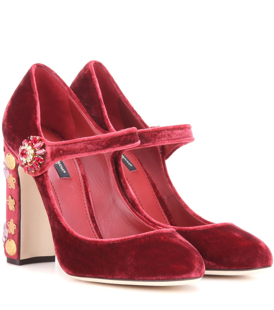 Exclusive to mytheresa.com - embellished velvet pumps Dolce & Gabbana 436YmEUP