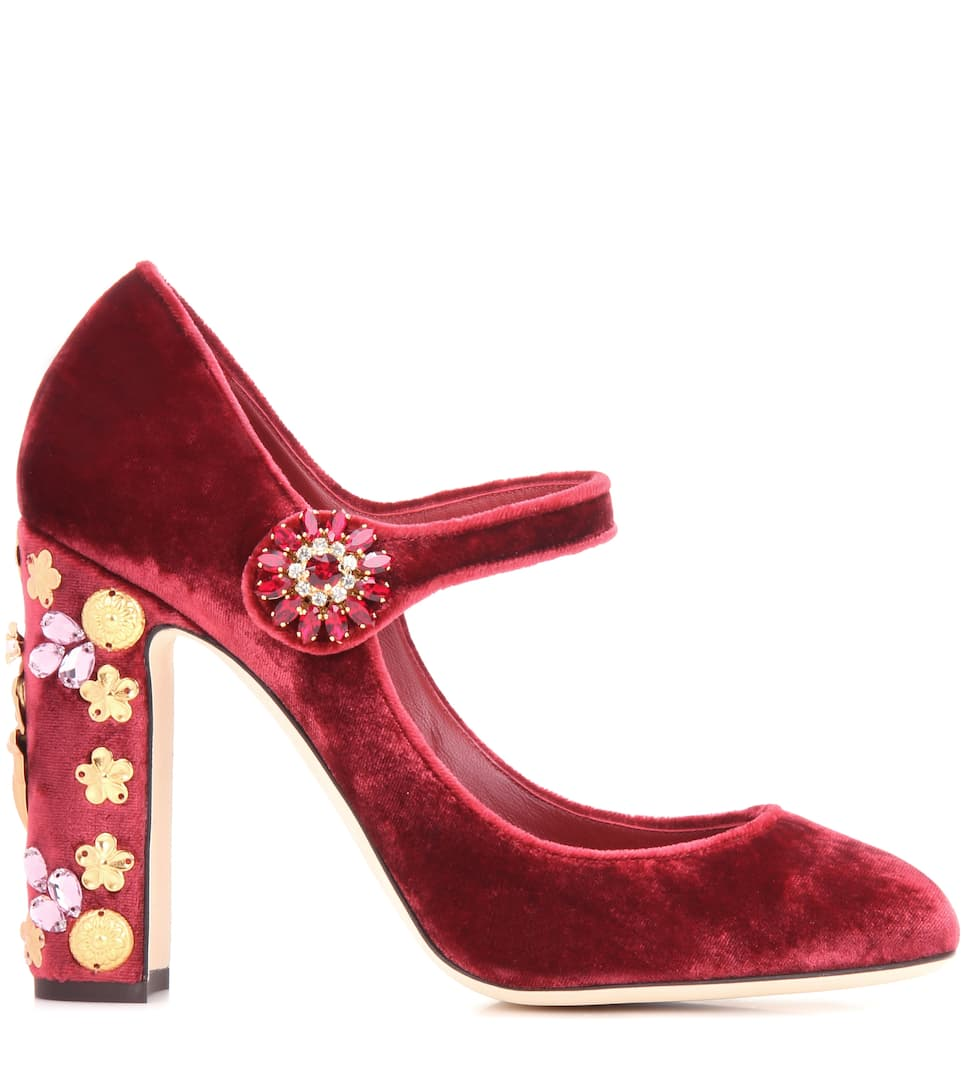 a8d1156daee0 Exclusive to mytheresa.com – embellished velvet pumps. Exclusive to.  Mytheresa. Dolce   Gabbana