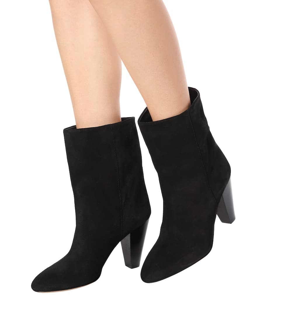 Isabel Marant Black Suede Darilay Boots