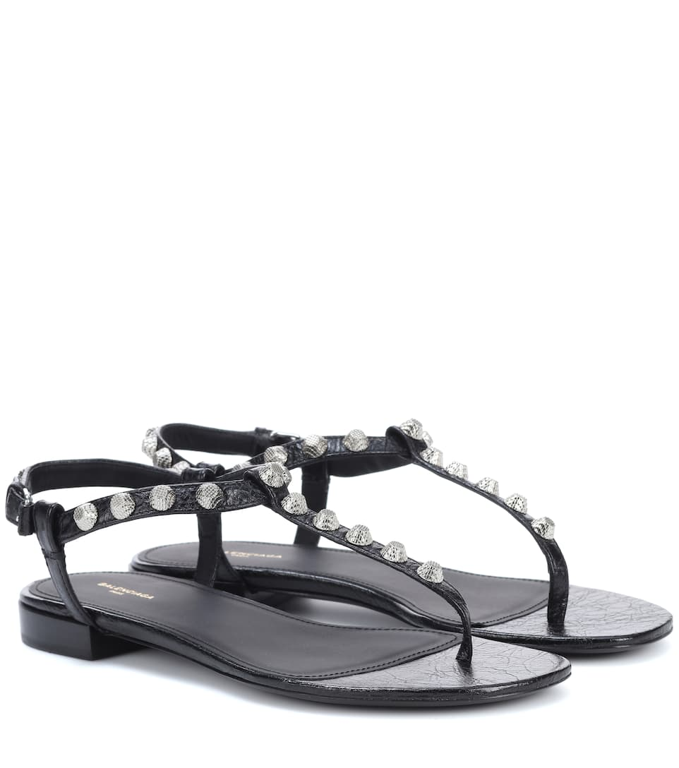 4eb5b3121d7c Balenciaga - Giant Stud leather sandals