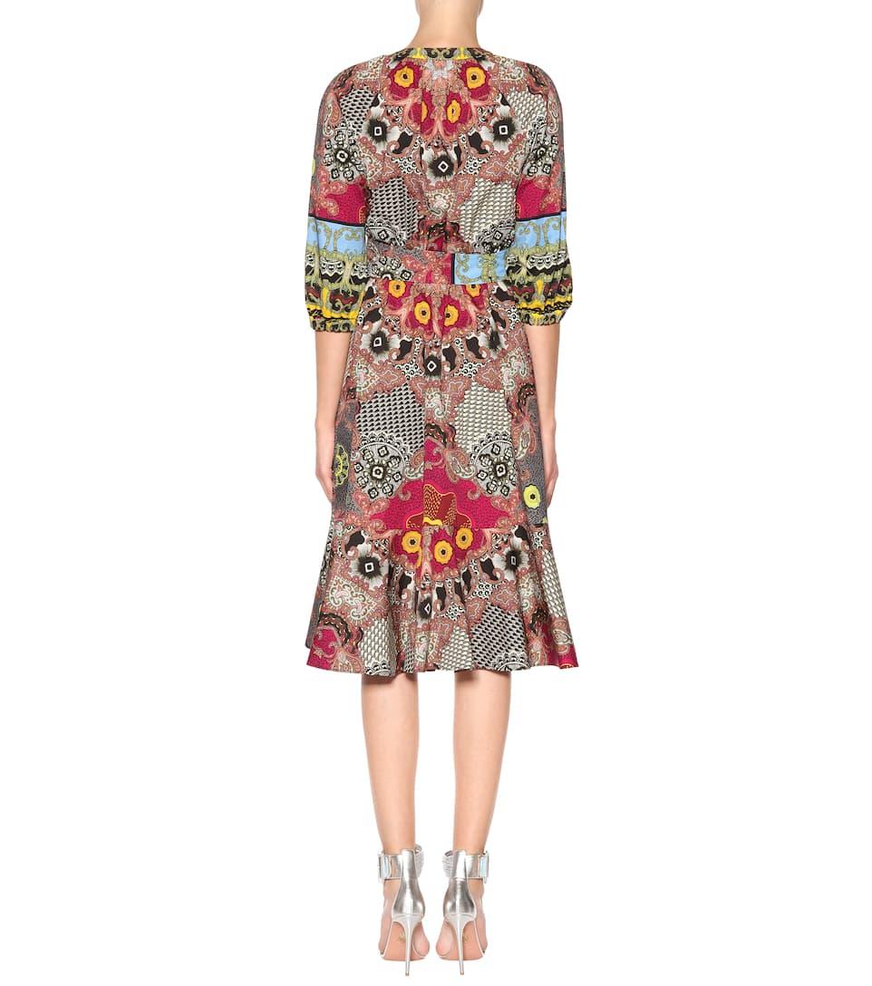 Etro Bedrucktes Kleid aus Baumwolle