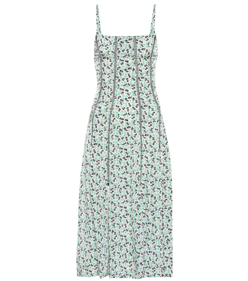 Alexa Chung Linings TOPSTITCHED FLORAL DRESS