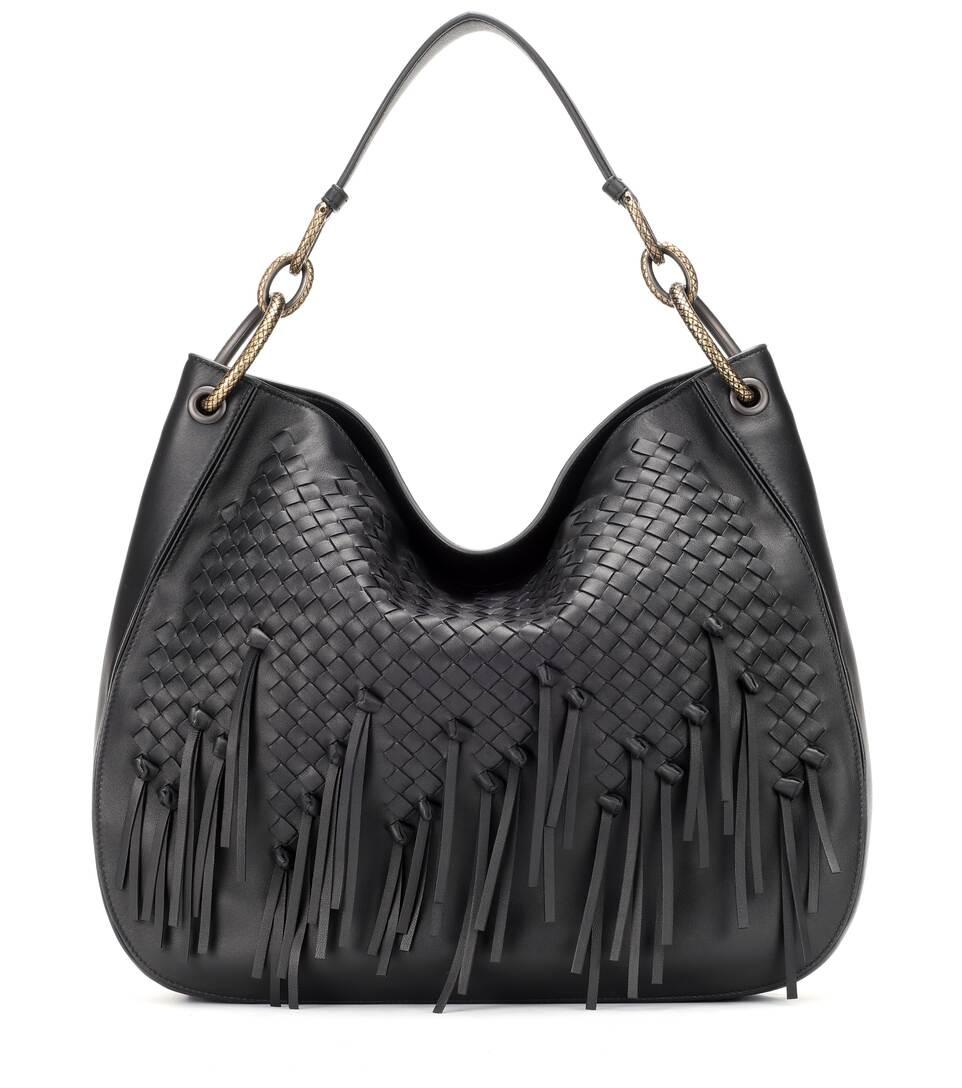 5c46f53388f0 Large Intrecciato Hobo Shoulder Bag - Bottega Veneta