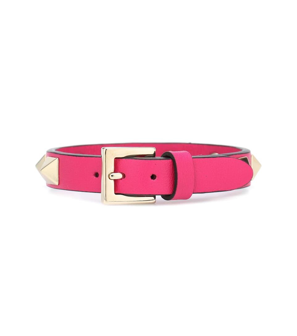 Valentino - Valentino Garavani - Bracelet en cuir Rockstud
