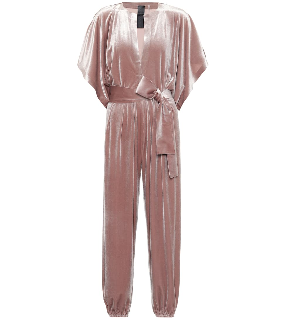 eafe30c0999f Rectangle Jog Velvet Jumpsuit - Norma Kamali