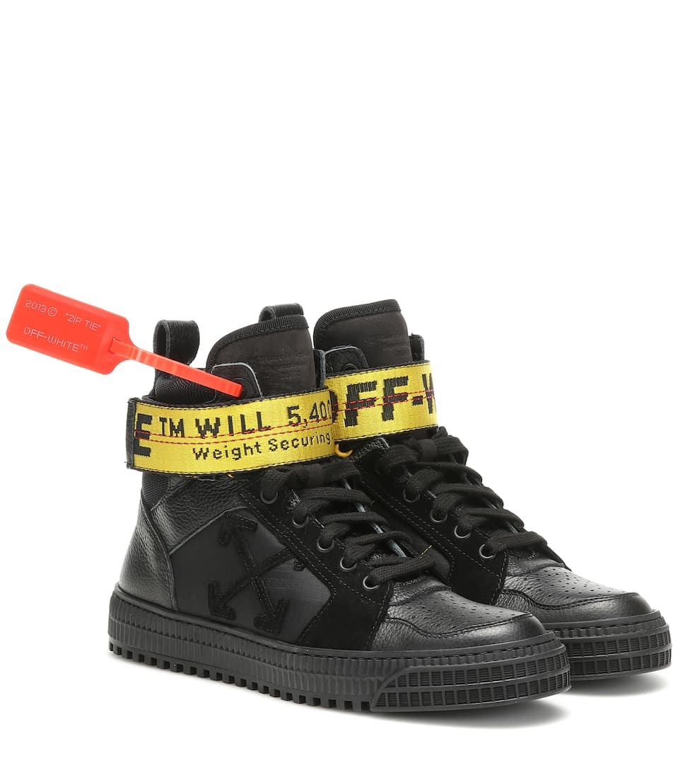 Industrial leather sneakers