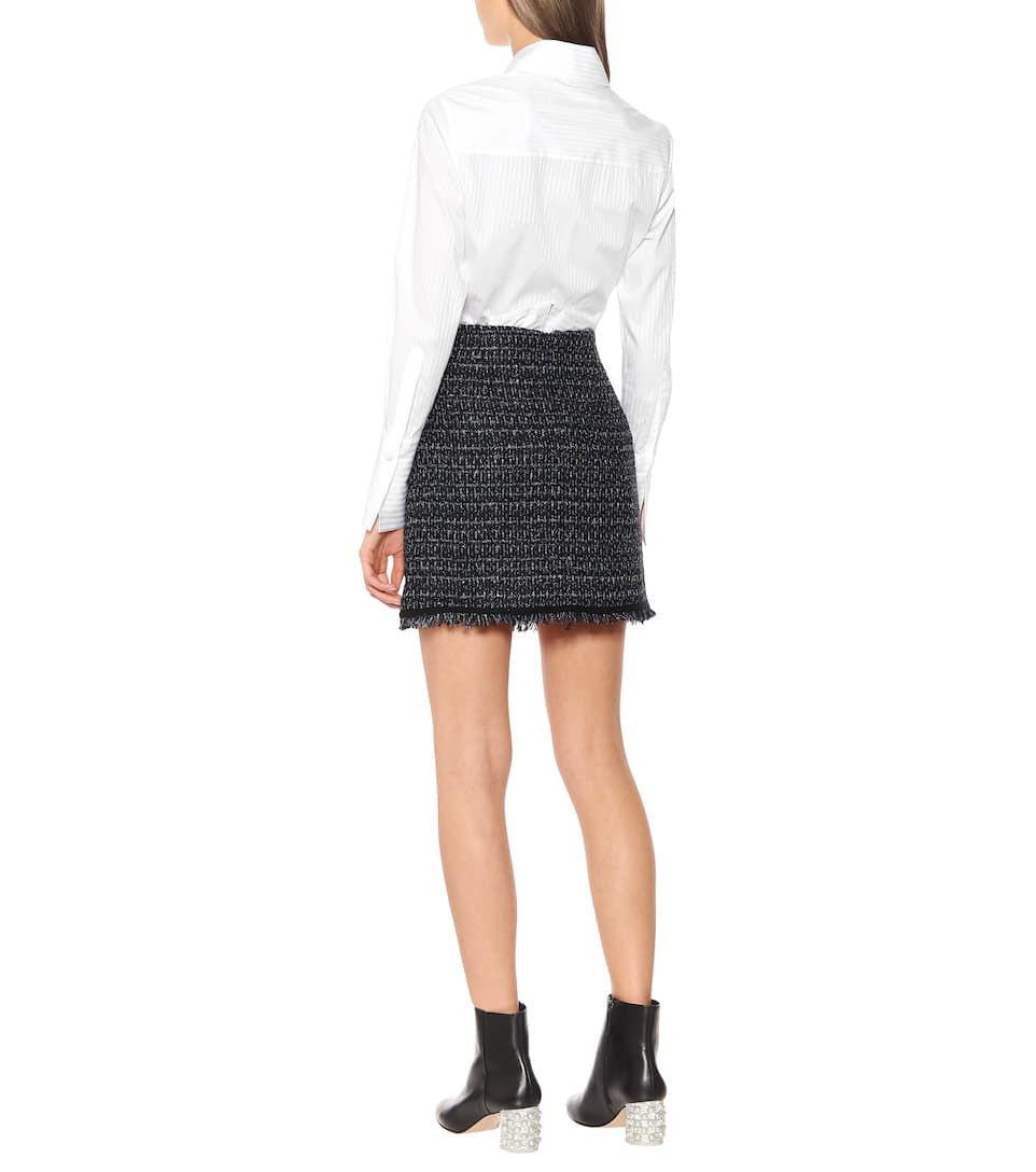 Mirabelle Tweed Miniskirt   Veronica Beard - Mytheresa