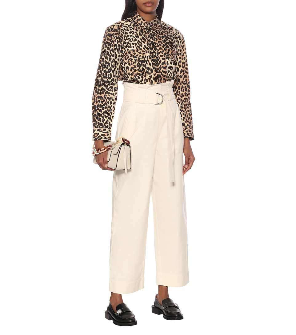 Leopard-print Cotton Shirt | Ganni - Big Discount