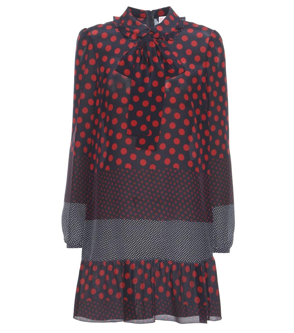 REDValentino Polka-dot printed silk dress