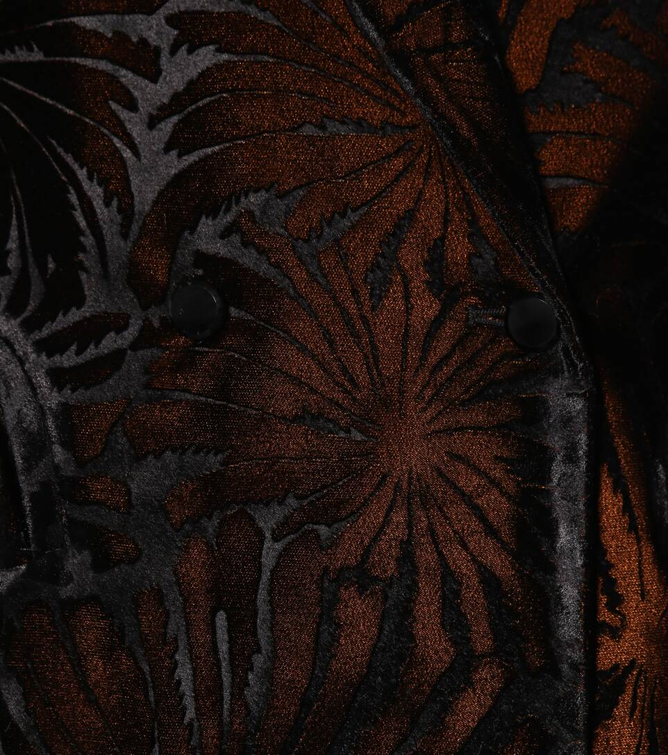 Everyday de Negro terciopelo flocado blazer Blazé Milano 1RSqw7Zx1U