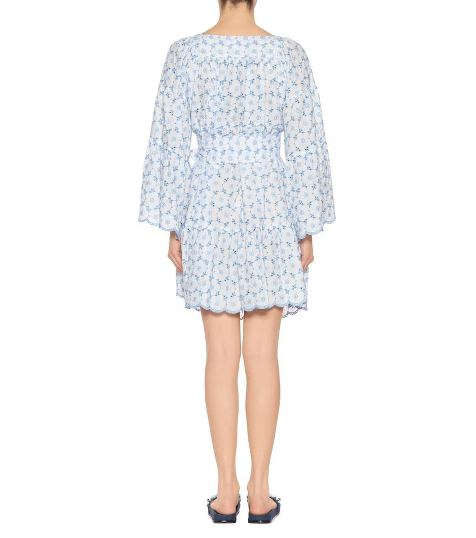 Lisa Marie Fernandez Besticktes Kleid aus Baumwolle