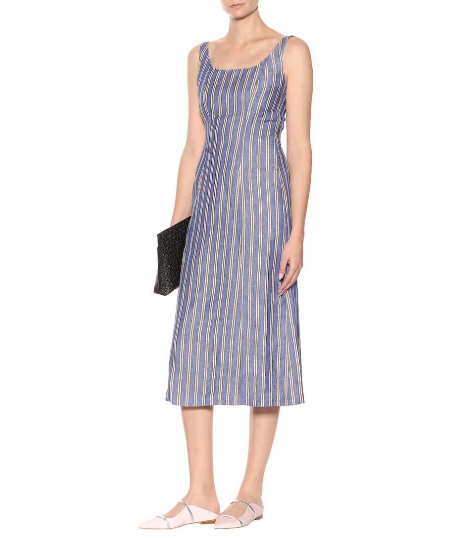Gabriela Hearst Kleid Georgia aus Leinen