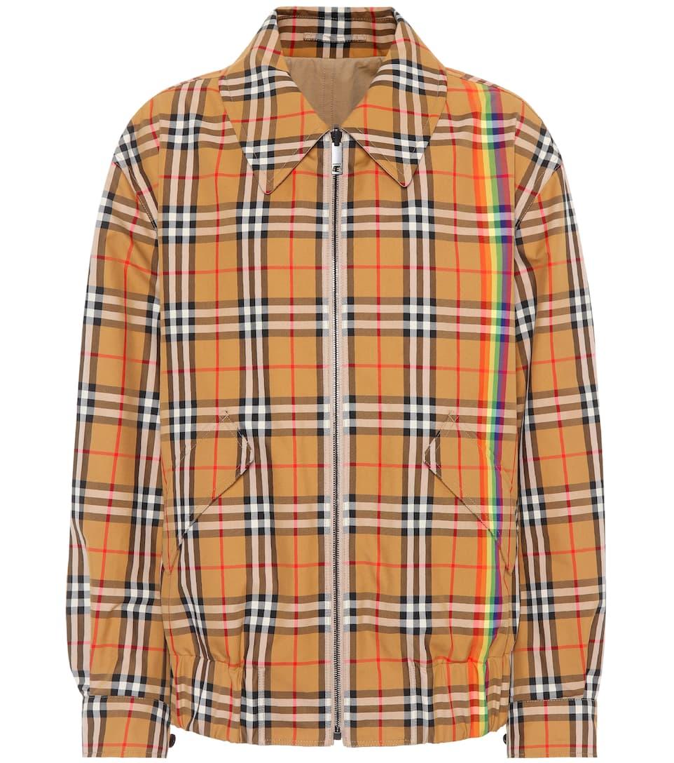 Burberry Reversible Harrington Jacket Made Of Cotton