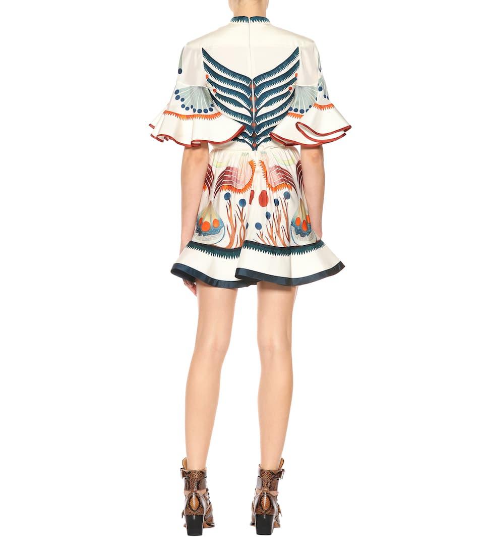 Chloé Bedrucktes Minikleid aus Seide