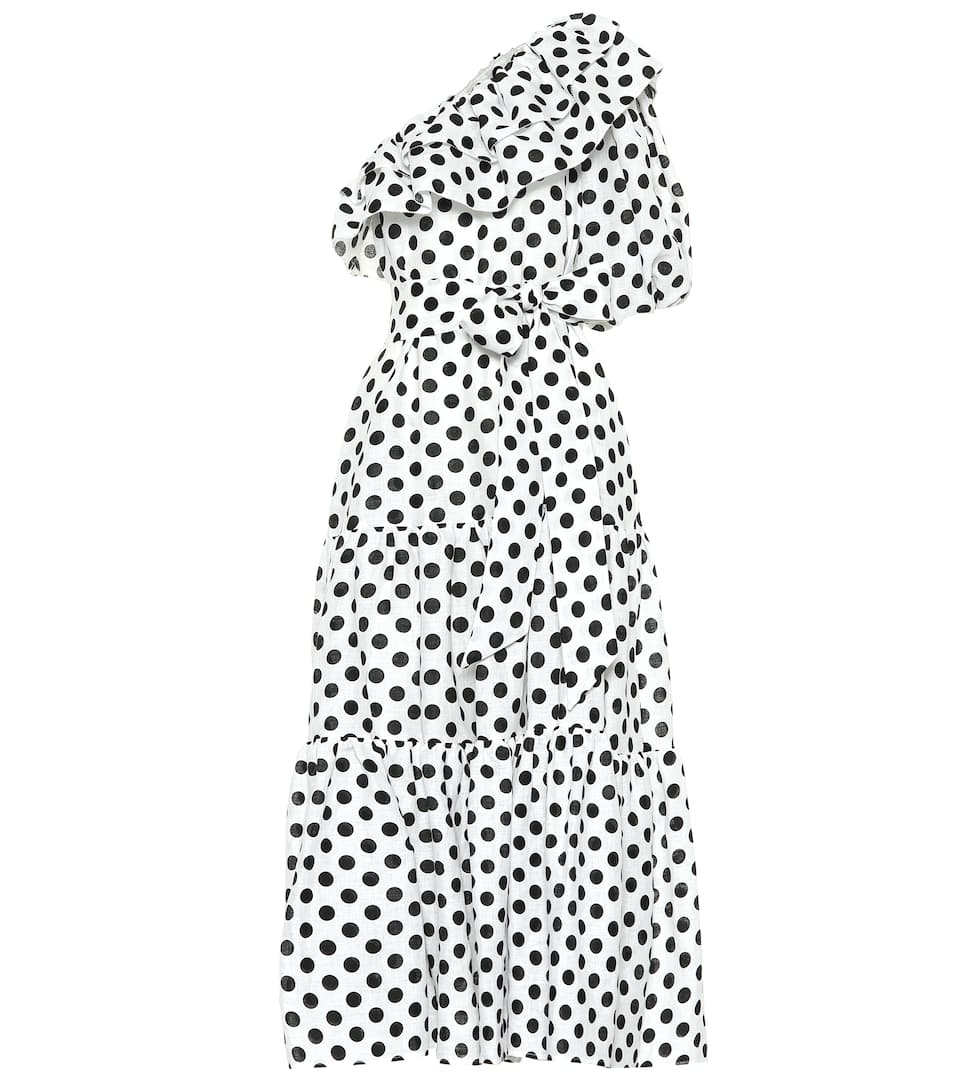 Arden Polka Dot Linen Dress by Lisa Marie Fernandez