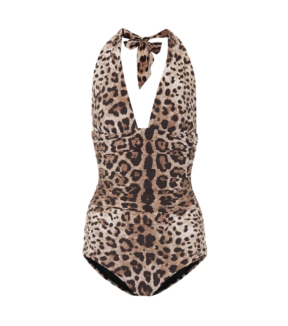 bc7810a1ea7 Leopard-Printed One-Piece Swimsuit | Dolce & Gabbana - mytheresa