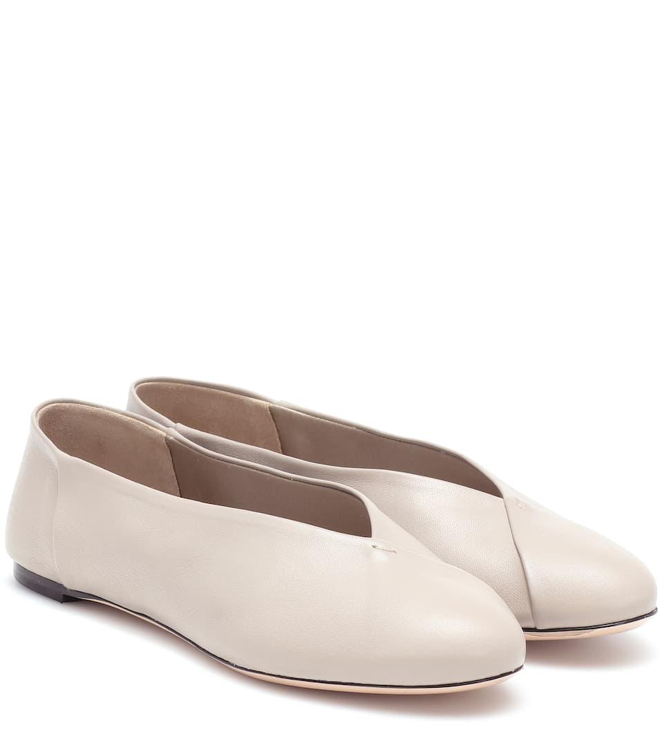 dcaf5835e Max Mara - Anne leather ballet flats
