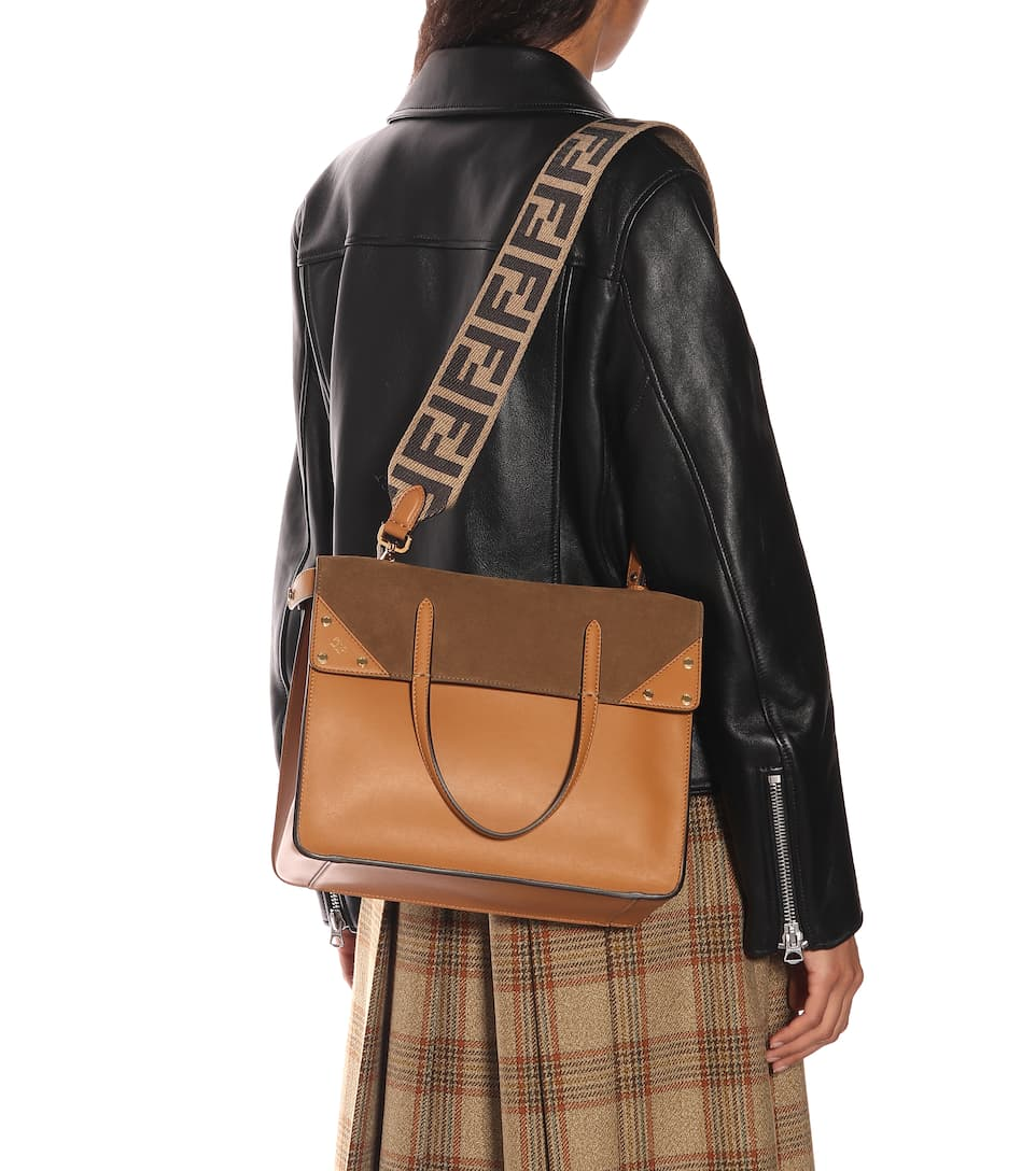 90598c067ce4 Flip leather and suede shoulder bag. NEWSEASON. Fendi