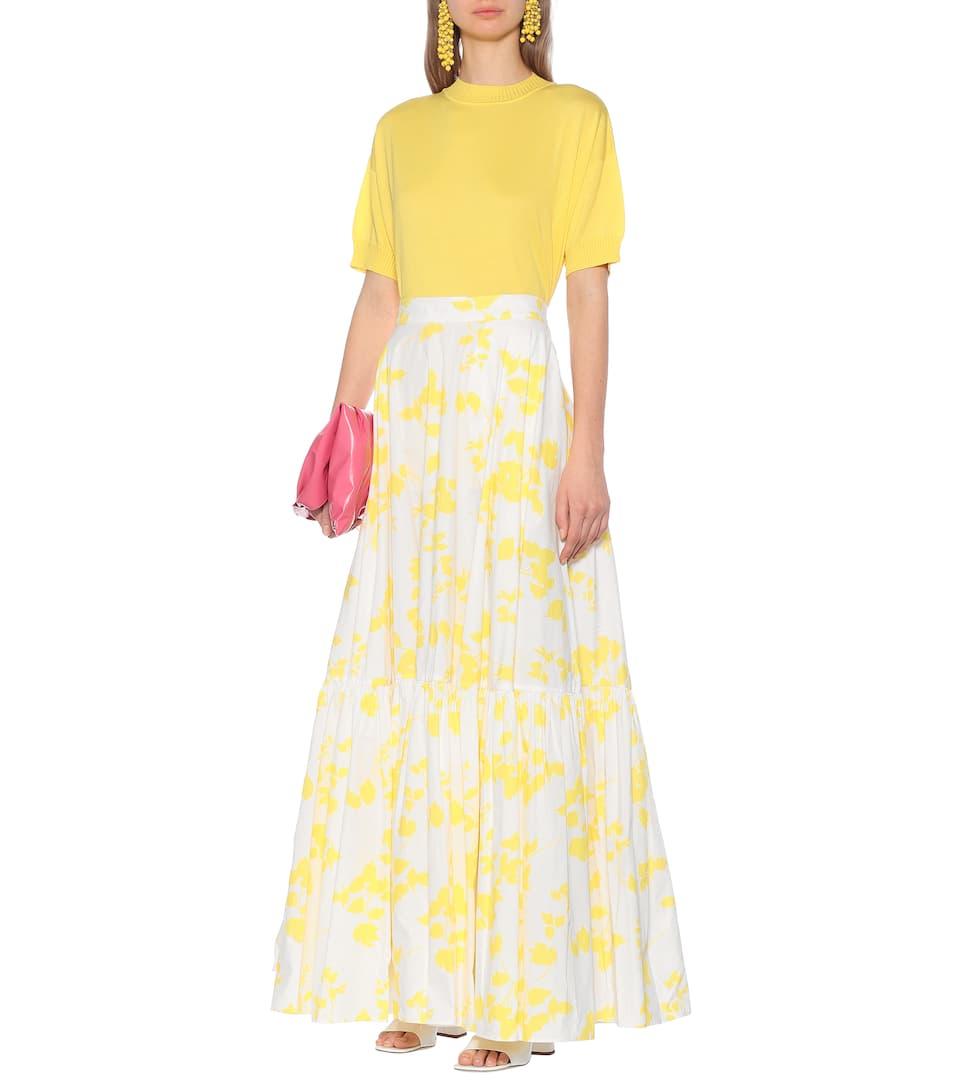 Plan C - Floral cotton maxi skirt
