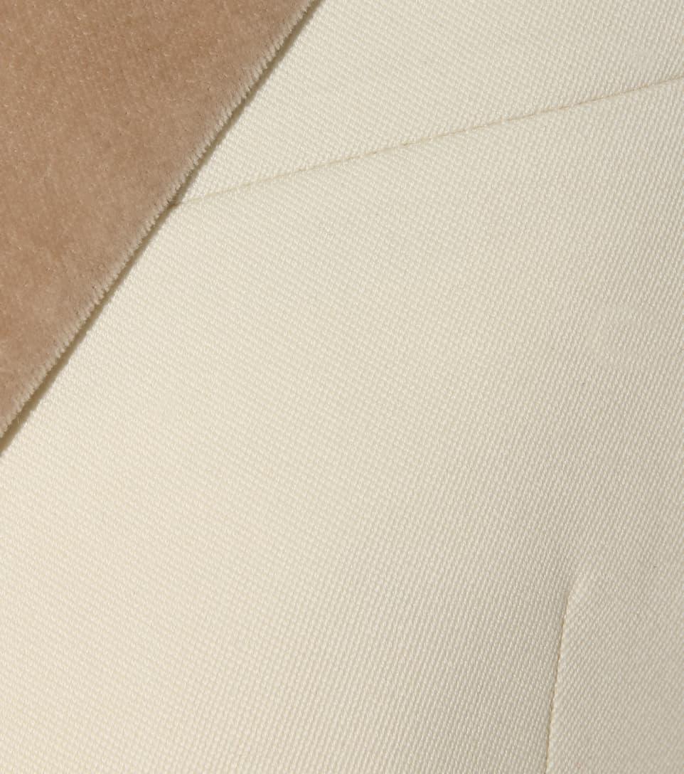 Hillier Bartley Barathea Velvet And Wool Jacket, White