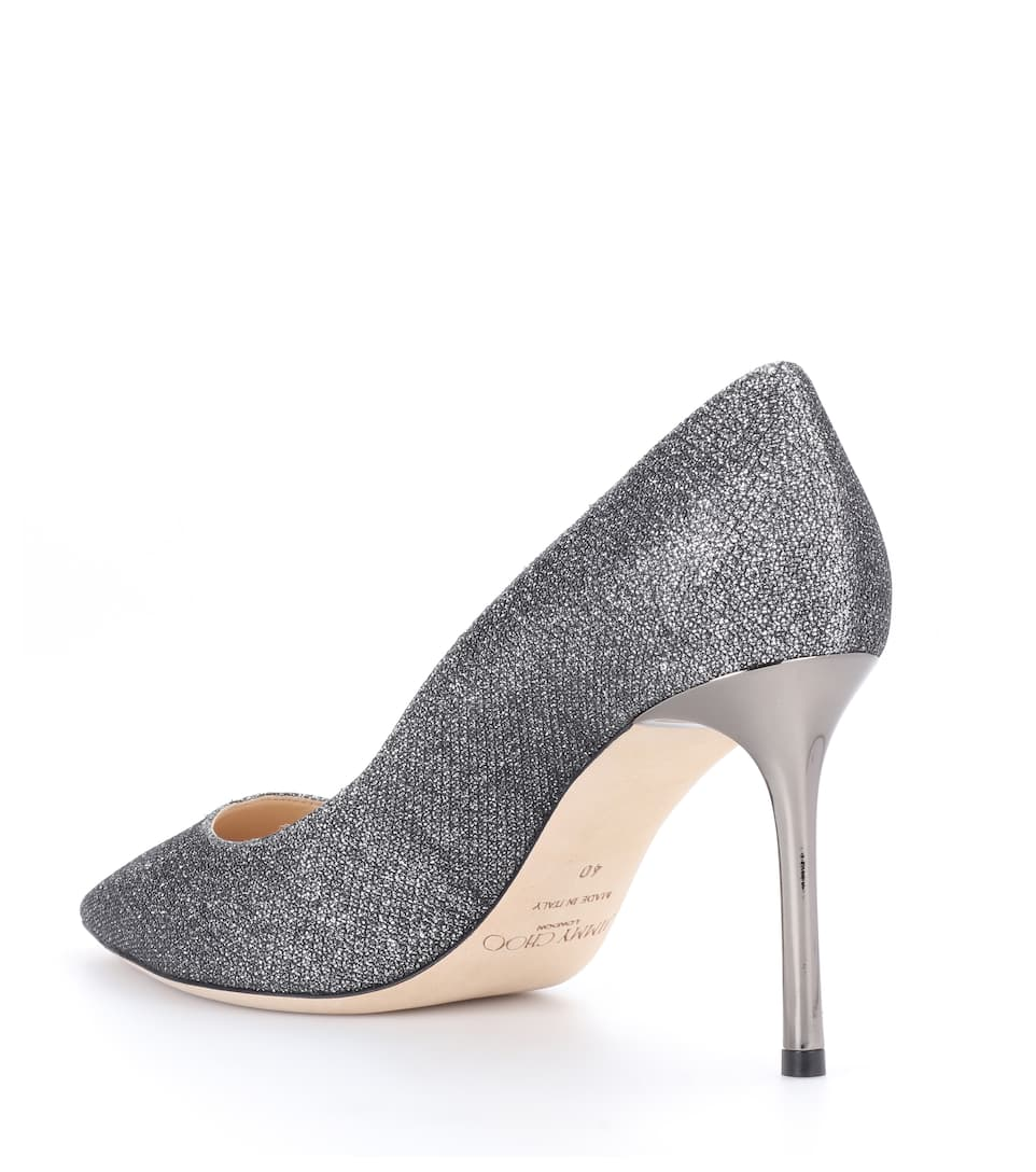 Jimmy Choo Lamé-pumps Romy 85