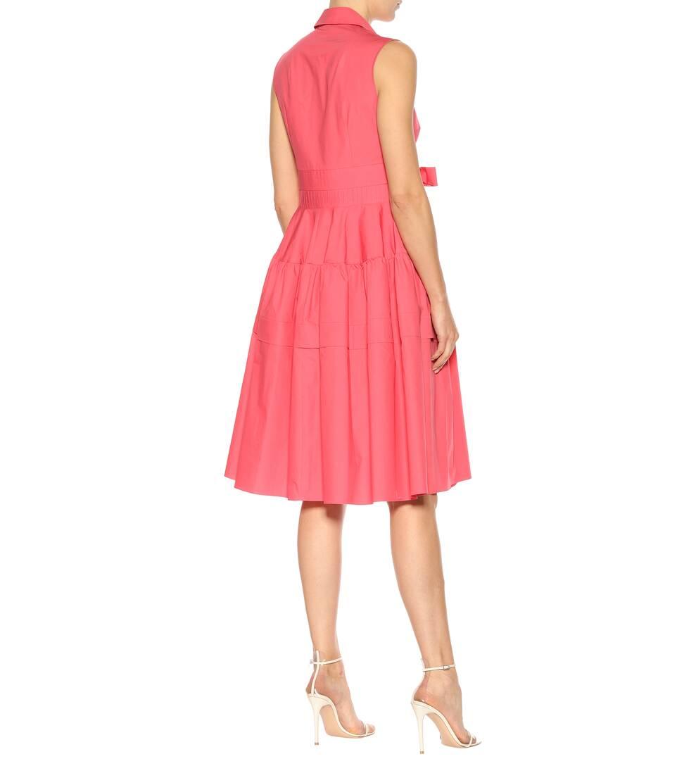 Delpozo Ärmelloses Kleid aus Baumwolle