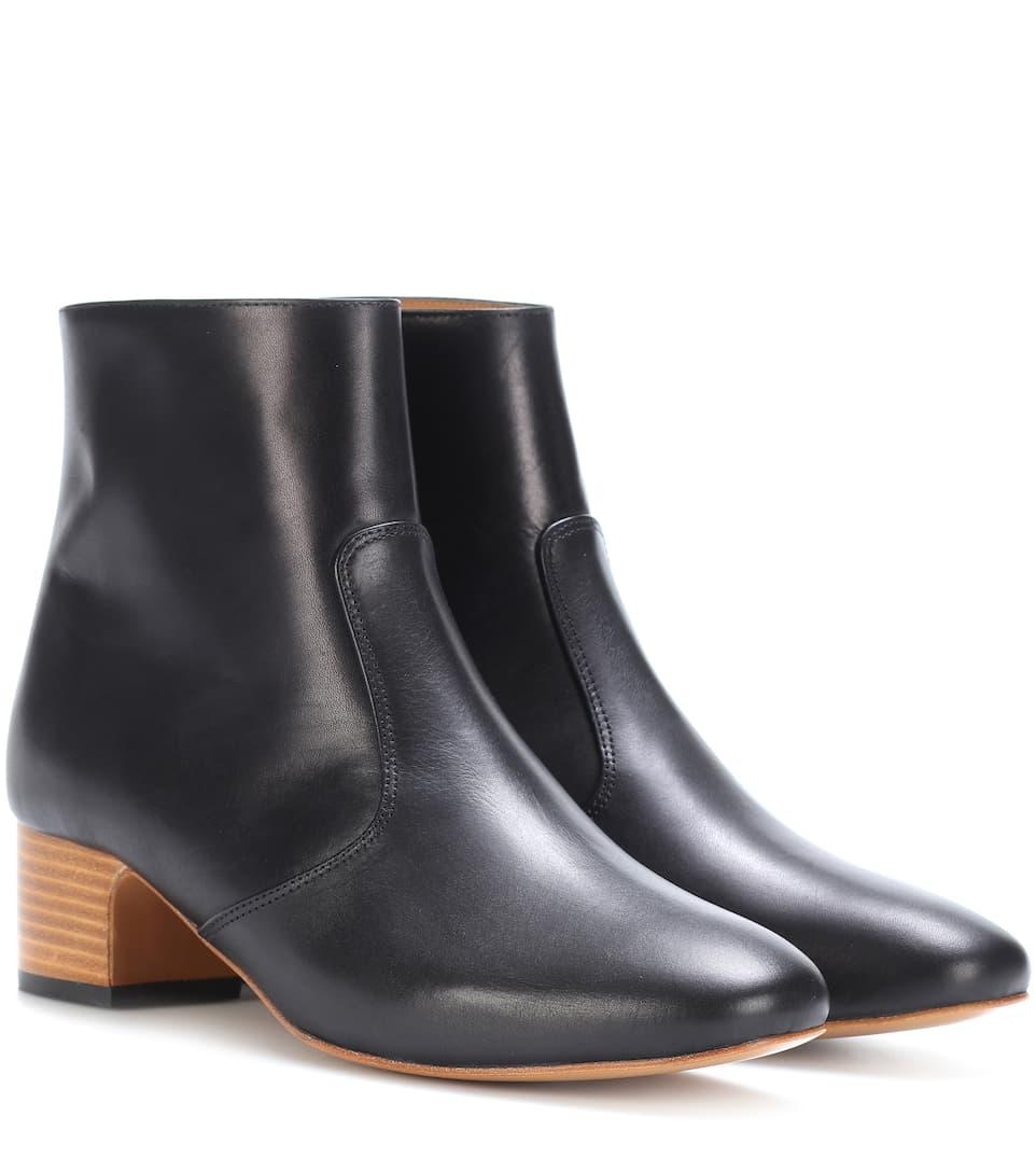 A.p.c. Ankle Boots Joey Aus Leder