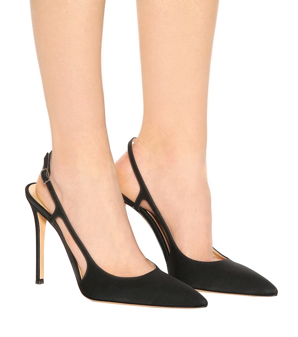 Exclusive to mytheresa.com - Grosgrain slingback pumps Gianvito Rossi 1JCNmaQ