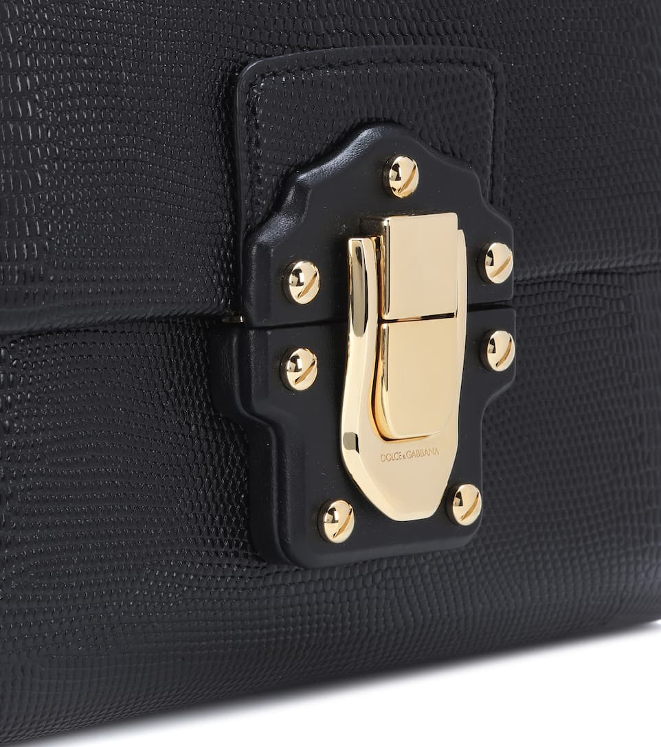 Dolce & Gabbana Lucia embossed leather shoulder bag Nero Outlet Pay With Paypal Manchester DHmDK9