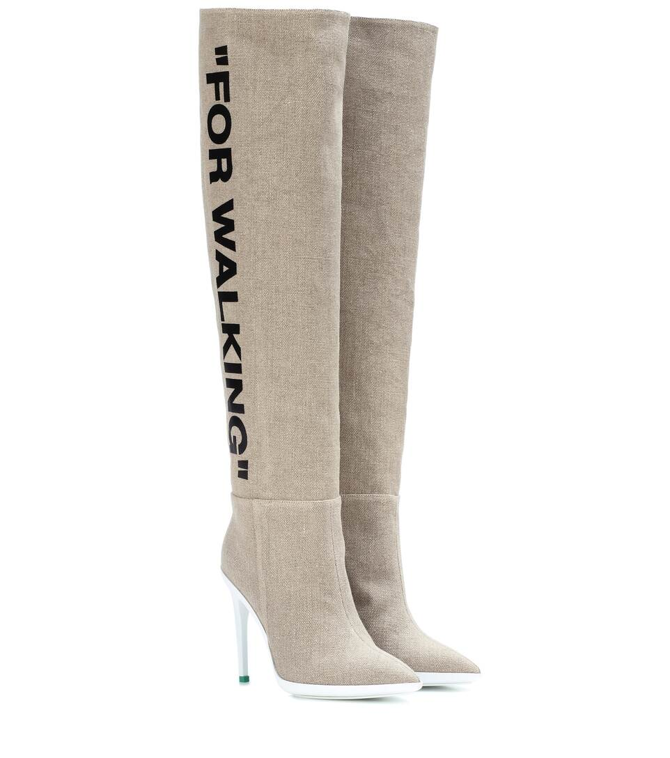 030a5b69957 For Walking Over-The-Knee Boots - Off-White