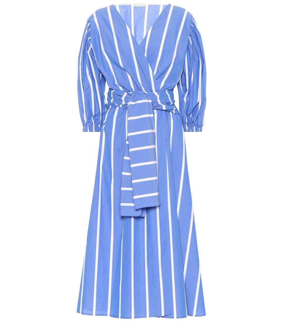 Miriam Striped Cotton Dress by Rejina Pyo