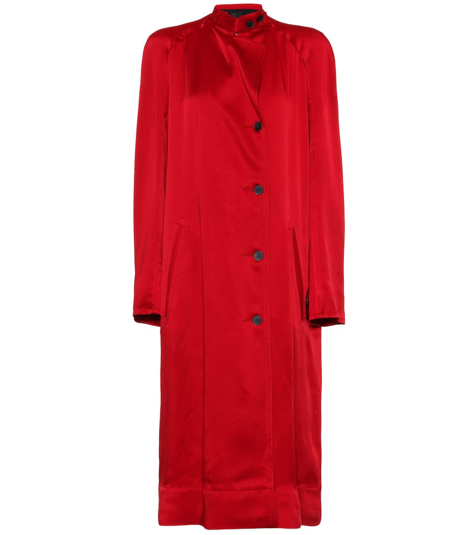 Haider Ackermann Satin coat Red Shiny Big Sale Buy Cheap With Credit Card Cc7GE