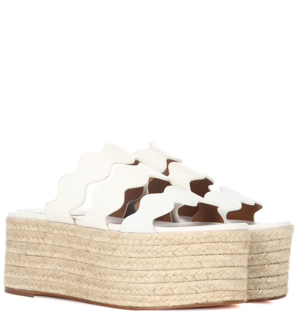 Chloé Plateausandalen 3 Waves Of Leather