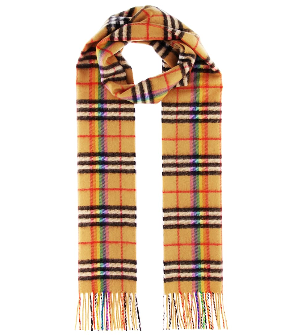 The Classic Rainbow Cashmere Scarf by Burberry