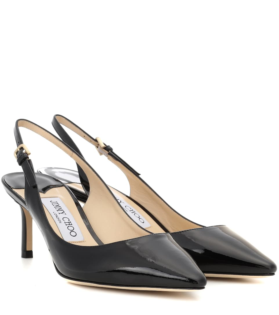 13f0ef5a5f50 JIMMY CHOO ERIN 60 LEATHER SLINGBACK PUMPS
