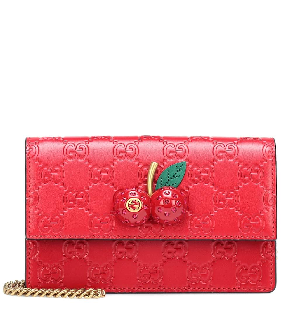 a3b119c0a Shoptagr | Gucci Signature Mini Crossbody Bag by Gucci