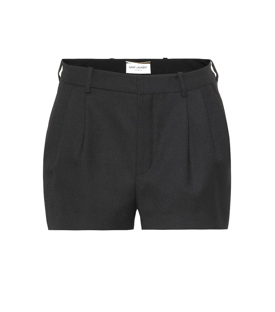 Wool Shorts by Saint Laurent