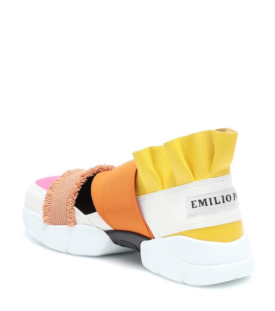 Pucci Emilio E Pelle In Sneakers Tessuto TPwOukiXlZ