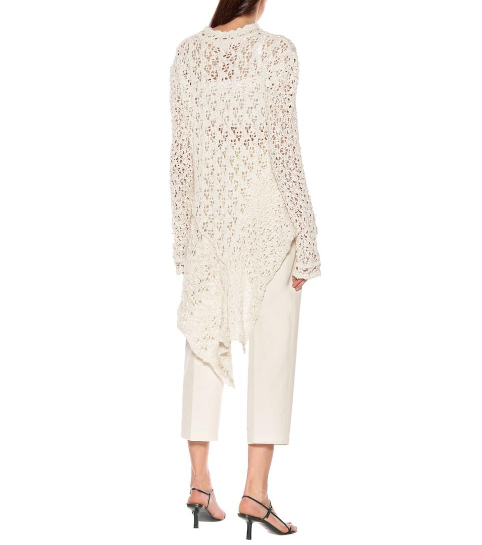 Jil Sander - Crochet cotton top