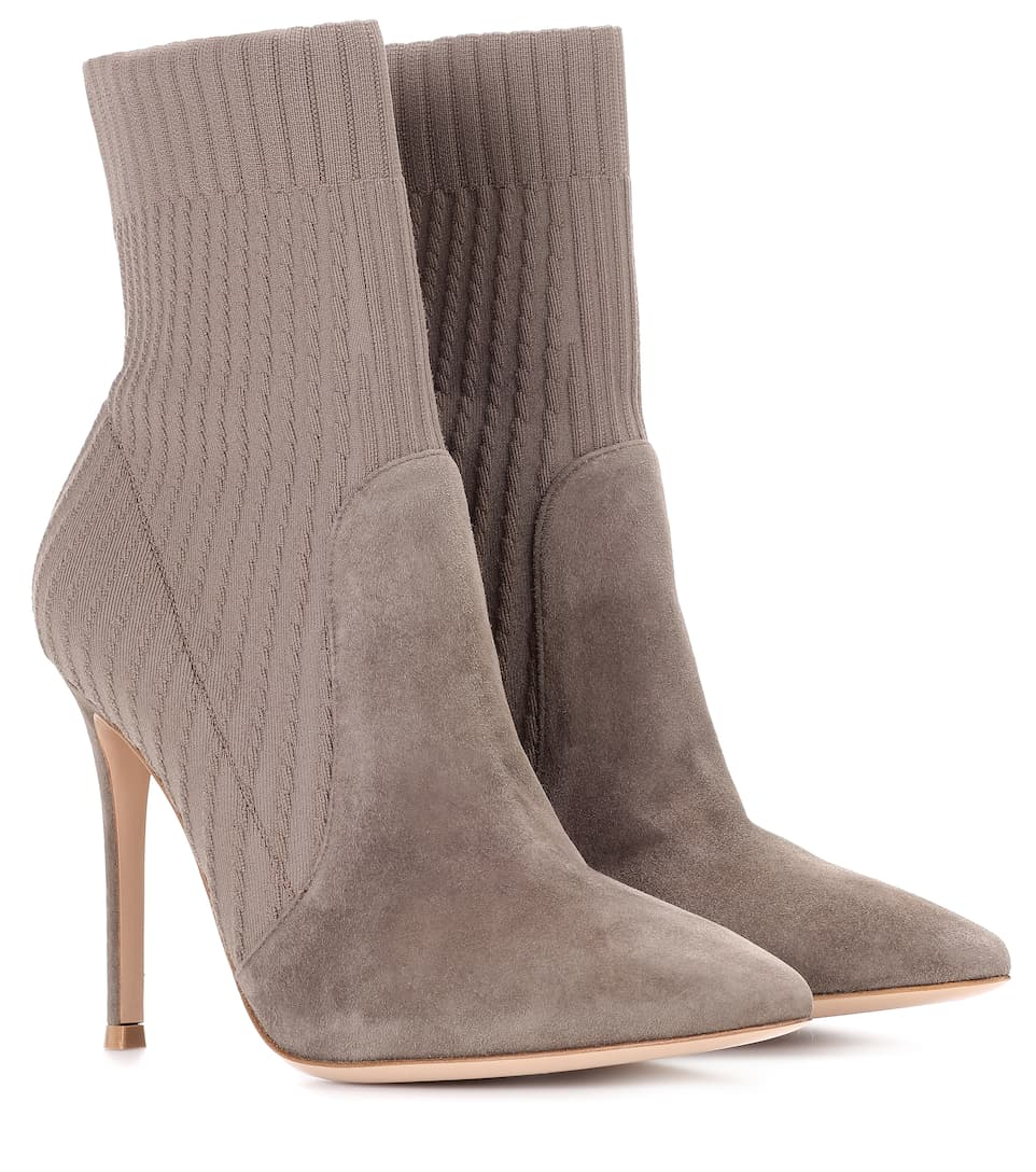 Gianvito Rossi Katie suede ankle boots cheap price from china get to buy for sale outlet exclusive 100% authentic cheap price clearance store EhT2cHP1F