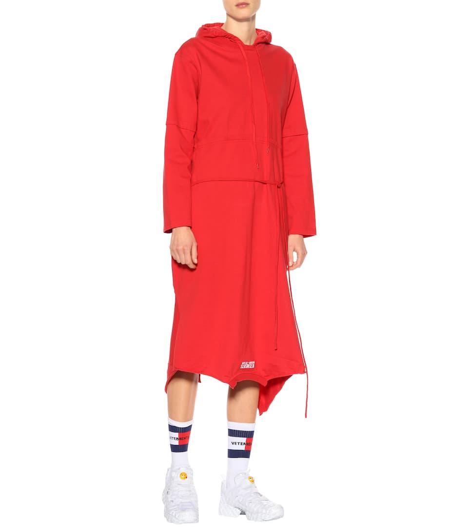 Vetements Bedrucktes Kleid aus Baumwolle