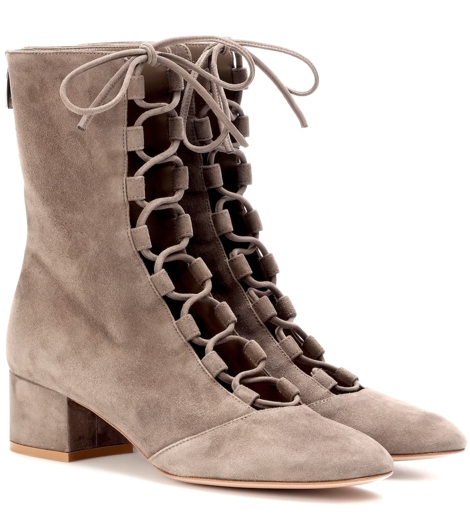 Gianvito Rossi Exklusiv bei mytheresa.com – Ankle Boots Delia aus Veloursleder