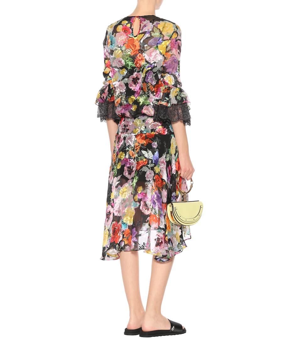 Preen by Thornton Bregazzi Asymmetrisches Kleid Madeleine mit Devoré-Satin