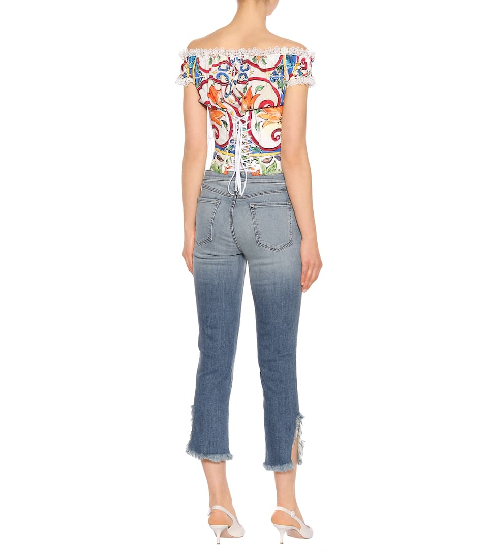 J Brand High-Rise Cropped Jeans Ruby