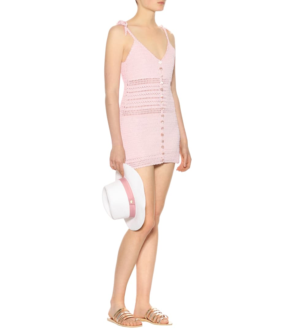 She Made Me Sita crocheted cotton dress petal pink Store With Big Discount yZFHHb