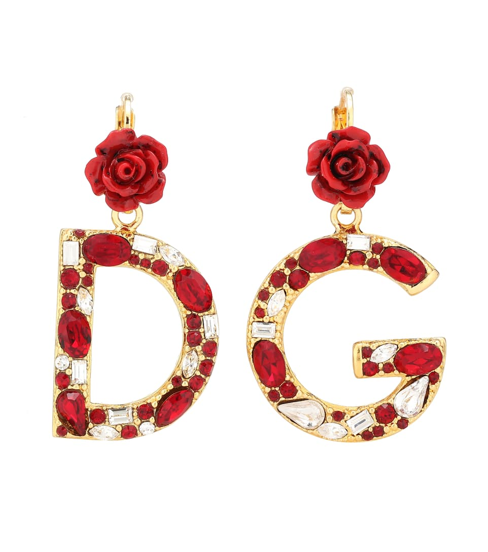 DOLCE & GABBANA Gold-Plated, Enamel And Crystal Earrings, Female