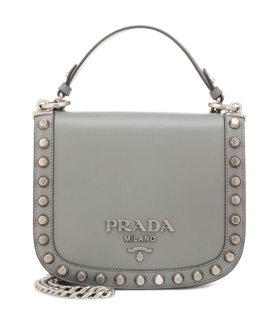 0b336d26b0ea Pionnière Leather Shoulder Bag - Prada