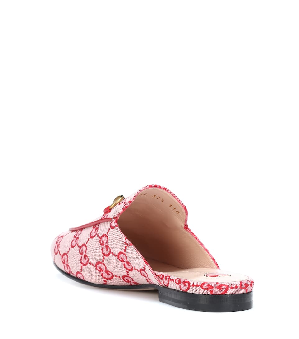 8f4aeec272 Princetown Gg Canvas Slippers - Gucci   mytheresa